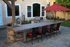 Outdoor BBQ Island Designs | Western Outdoor BBQ Island Outdoor Kitchens | Back