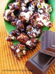 Chocolate popcorn / Σοκολατένιο ποπκορν