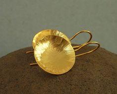 Golden Poppy earrings by anakim on Etsy, $50.00