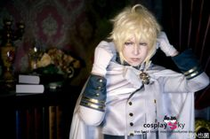 Seraph of the End Vampires Mikaela Hyakuya Uniform Outfit Cosplay Costume $99.99 Model by @小也菌 On Weibo