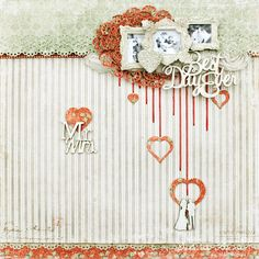 Gorgeous wedding layout by Delaina, using papers from I Wish.