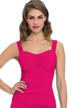 Profile by Gottex Plus-Size Pink Tutti Frutti Bandeau Tankini Top