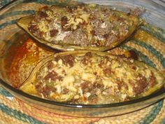 Dieta dos 31 dias: Beringela Recheada Kitchen Things, Low Carb, Beef, Food, Eating Well, Risotto, Healthy Recipes, Diets, Meat