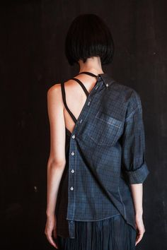 Denim Button Up, Button Up Shirts, Evolution T Shirt, Recycle Jeans, Old Shirts, Shirt Refashion, Button Down Dress, Tennis Players, Sewing Clothes