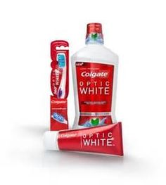 Colgate Optic White  tooth paste/tooth brush and mouth wash.