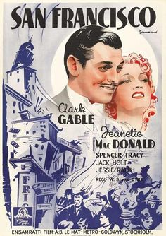 San Francisco Movie Poster / 1936 / Based on the April 18, 1906 San Francisco earthquake.