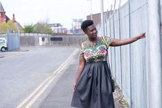 OOTD: COLOURFUL AND FAUX LEATHER SKIRT...