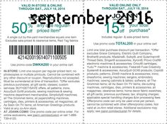 Joann Coupons Ends of Coupon Promo Codes MAY 2020 ! Retailer JOANN for In her including the it's nation's Cleveland hands states stor. Free Printable Coupons, Free Printables, Dollar General Couponing, Coupons For Boyfriend, Coupon Stockpile, Grocery Coupons, Love Coupons, Extreme Couponing, Coupon Organization