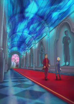 The illustration of the second chapter of The Last Time Mage short story.