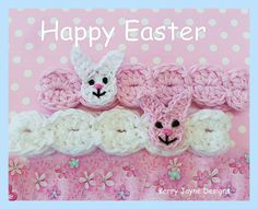 BUNNY BAND Crochet pattern - Beautiful Headbands by KerryJayneDesigns A great gift to pop in the post at Easter time!