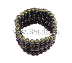 Pearl Bracelet, stretch bracelet, round pearl beads, colorful style, 3-6mm, Sold per 6.5-Inch Strand    http://www.beads.us/product/Pearl-Bracelet-3-6mm_p10563.html