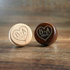 Bulk Personalized Wine Stopper Engraved Wood by EventCityDesign