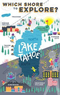 Lake Tahoe: Things To Do in North Shore vs. South Shore Visiting Lake Tahoe: North Shore or South Sh San Diego, San Francisco Bay, Lake Tahoe Summer, Lake Tahoe Vacation, Spring Lake, Lake Tahoe Resorts, California Love, California Travel, Northern California