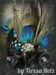 Took pics of the corsage made by Teresa Retz.... And pizazzed it up some....