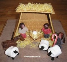 Fun Nativity Scenes Made Out of Food