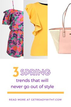 Want to be on trend every spring? It's only natural to want to look on trend as a new season draws in. But there's a better way to do it. All you have to do is remember these three trends. We've just written an article that highlights three spring fashion trends that will continue to exude a timeless and fashion-forward look. You will never be confused about what to buy this spring, and next year your wardrobe will most likely be filled with timeless spring fashion. You're welcome. Spring Fashion Trends, Spring Trends, Out Of Style, Confused, Never, Fashion Forward, Going Out, Blogging, Highlights