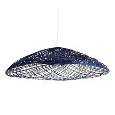 Suspension Satélise MM Bleu #Forestier #Blue #Rotin #design #light #lighting