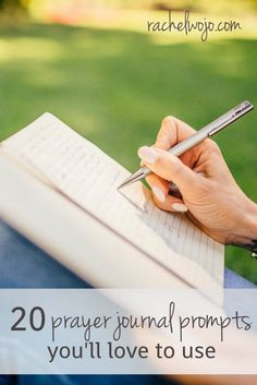 Check out these prayer journaling ideas.