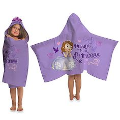 Sofia The First Hooded Towel **free personalization**