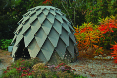This pinecone-inspired gazebo is a playground for kids and adults alike
