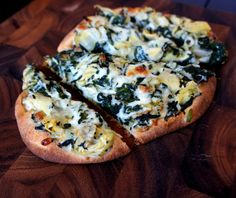 Spinach and Artichoke Flat Bread Pizza -- Dip & Bread in one!