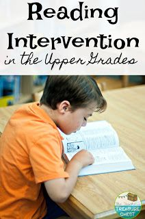 The Teacher's Treasure Chest: Reading Intervention In the Upper Grades. Helpful thoughts and ideas to help struggling readers. Reading Intervention Strategies, Reading Intervention Activities, Teaching Reading Strategies, Reading Assessment, Reading Resources, Reading Skills, Reading Comprehension, Teaching Ideas, Reading Lessons