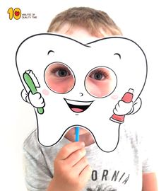 Tooth Mask Printable Template