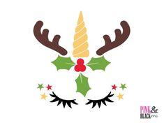 Christmas, unicorn svg, reindeer svg, winter svg