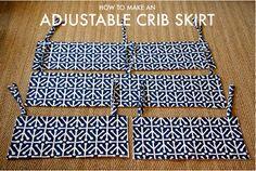 How to make adjustable Crib Skirt Panels for a baby mod Olivia crib