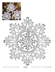 Solo esquemas y diseños de crochet: COPOS DE NIEVE                                                                                                                                                                                 Más