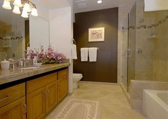 Wailea Grand Champions #130835 | Maui Hawaii Vacations Guest Bath with New tiled shower and granite counter tops