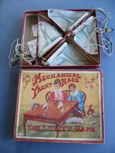 Example of the game Mechanical Yacht Race T Race, Name Games, Vintage Games, Best Graphics, Wooden Boxes, Decorative Boxes, Miniatures, Racing, Games
