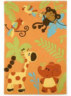 tapis jungle pour chambre denfant