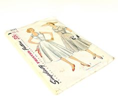 Vintage 1952 Simplicity Sewing Pattern Summer Dress 38 Bust on Etsy, $20.00