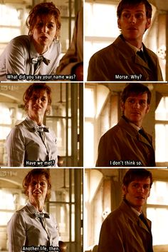 Endeavour. The real life daughter of the actor who played Morse. Thus this adorable little interaction. <-- that's ridiculously amazing. #trivia