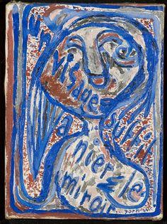 Asger Jorn, Un visage suffit a nier le miroir (A face may contradict the mirror)