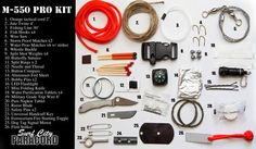 M-550 Pro Paracord Grenade with integrated survival kit (ACU) (TM)