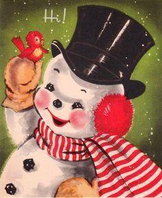 Vintage Christmas card #vintage #Christmas