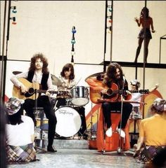 Electric Light Orchestra 1972 - Jeff Lynne, Bev Bevan, Roy Wood.