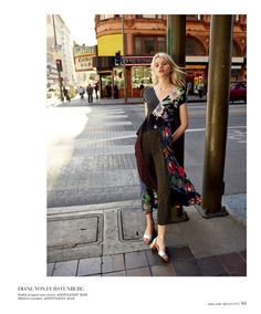 Diane von Furstenberg Draped Ruffle Gown $698 and Florence Metallic Nappa Leather Sandals $248
