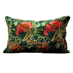 Vintage Velvet pillow cover Floral decorative - Size - 14 x 23. $55.00, via Etsy.