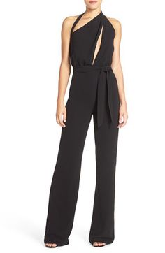 MISHA COLLECTION Misha Collection 'Caprice' Cutout Halter Jumpsuit available at #Nordstrom