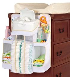 Creating storage space is very important in any room and the same goes for a baby nursery. If you are also looking for baby nursery storage and organization ideas, you can take a look at them here: 1 Changing Table Organization, Diaper Organization, Baby Nursery Organization, Nursery Storage, Storage Organization, Storage Ideas, Nursery Bag, Diaper Storage, Baby Storage