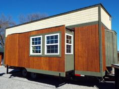 8.5 x 24 ft trailered tiny house with bump outs. 400 sq ft with bump outs and loft space