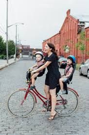 Image result for vintage style mother and child cycle
