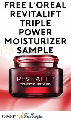 FREE L'Oreal Revitalift Triple Power Moisturizer Sample [Verified Received By Mail] - Yo! Free Makeup Samples, Get Free Samples, Free Stuff By Mail, Get Free Stuff, Single Mom Help, Loreal Revitalift, Freebies By Mail, Diy Crafts For Home Decor, Free Things