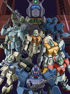 Mobile Suit Gundam - GMs Poster w/ Ideon