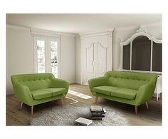 Set di 2 divani (2+3 posti) Jen - verde
