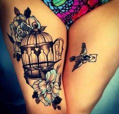 Tattoo Bird Cage Life 16 Ideas – foot tattoos for women quotes Cage Tattoos, Feather Tattoos, Body Art Tattoos, New Tattoos, Foot Tattoos For Women, Sleeve Tattoos For Women, Tattoos For Guys, Simple Bird Tattoo, Bird Tattoo Wrist