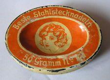 1930s Antique German Steel Pins*Tin Box*Sewing* Advertising*(1)